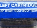 Picture label cart with blue plastic spine
